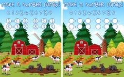 Faça um fundo das matemáticas da exploração agrícola do número ilustração stock