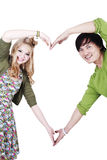 Faça um símbolo do amor Fotografia de Stock Royalty Free