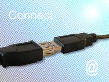 Faça uma conexão Foto de Stock
