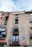 Façade à Barcelone Photographie stock libre de droits