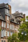 Façade à colombage à Rennes images libres de droits