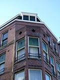 Façade à la maison d'Amsterdam Image libre de droits