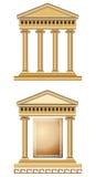 Façade antique de temple Image libre de droits