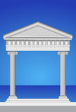 Façade antique de temple Photo stock