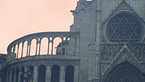Façade archivistique de Valencia Cathedral banque de vidéos