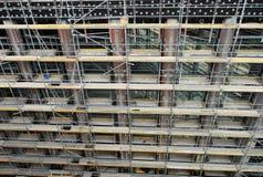 Façade avant d'un bâtiment en construction Photos stock