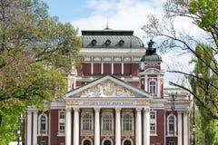 Façade avant du théâtre national, Sofia, Bulgarie photos libres de droits