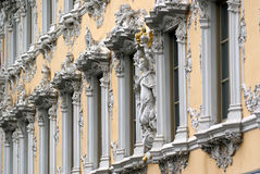 Façade baroque de construction Photo stock