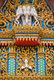 Façade of Buddhist Temple in Hua Hin Thailand. An image of the colorful façade of a Buddhist Temple in Hua Hin Thailand royalty free stock photos