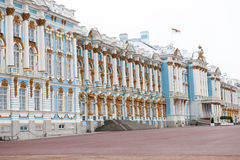 Façade Catherine Palace, St Petersburg Images stock