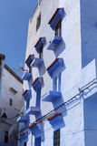 Façade of chefchaouen morocco Stock Images