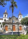 Façade coloniale d'église Photographie stock
