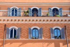 Façade colorée de construction Image libre de droits