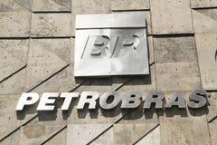 Façade construisant la ville du centre Rio de Janeiro Brazil de ciel de Petrobras photos stock