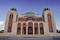 Façade d'église Église orthodoxe traditionnelle grecque Image libre de droits