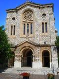 Façade d'église Photographie stock libre de droits