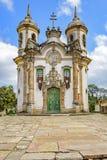 Façade d'église Photos libres de droits