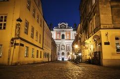 Façade d'église catholique baroque Photos libres de droits