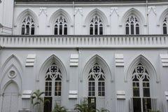 Façade d'église de bâtiment de vintage image libre de droits