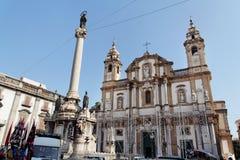 Façade d'église de Palerme Images libres de droits