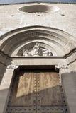 Façade d'église de Pollensa images stock