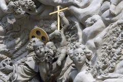 Façade d'église de rue Jacob, vieille ville, Prague Photo libre de droits