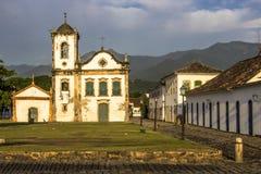 Façade d'église de Santa Rita de Cassia dans Paraty photos libres de droits