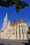 Façade d'église de St Mattew à Budapest Photo stock
