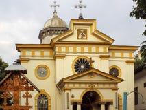 Façade d'église orthodoxe Photographie stock libre de droits