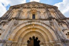 Façade d'église romane de Petit Palais et de Cornemp, la Gironde ATF Photo libre de droits