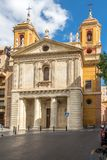 Façade d'église San Pedro à Almeria, Espagne Images libres de droits