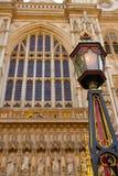 Façade d'Abbaye de Westminster de Londres Photos libres de droits