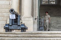 Façade d'Auberge de Castille, le premier ministre bâtiment du ` s images libres de droits
