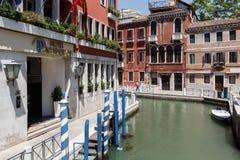 Façade d'hôtel de 4 étoiles Papadopoli à Venise, Italie, l'Europe Photos libres de droits