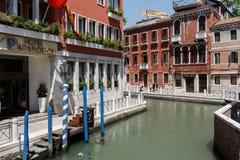 Façade d'hôtel de 4 étoiles Papadopoli à Venise, Italie, l'Europe Photographie stock libre de droits