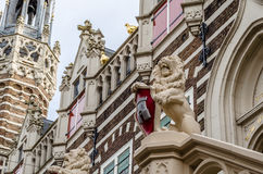 Façade d'hôtel de ville d'Alkmaar Image libre de droits
