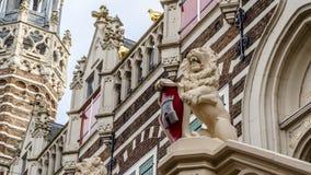 Façade d'hôtel de ville d'Alkmaar photos stock