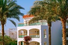 Façade d'hôtel, Egypte photo libre de droits