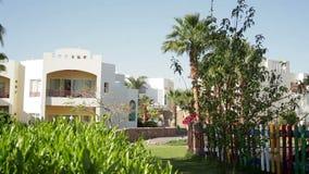 Façade d'hôtel en Egypte banque de vidéos