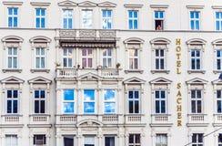 Façade d'hôtel Sacher à Vienne Photos libres de droits