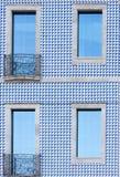 Façade d'un bâtiment à Porto Photos stock