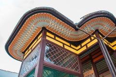 Façade d'un bâtiment dans le style est Image libre de droits