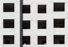 Façade d'un immeuble de brique Photographie stock
