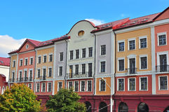 Façade d'une maison à Minsk Photographie stock