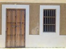 Façade d'une maison colinial Image libre de droits