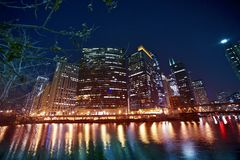 Façade d'une rivière de Chicago Photographie stock