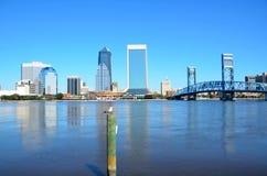 Façade d'une rivière de Jacksonville la Floride Image libre de droits