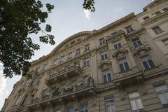 Façade d'une vieille maison à Vienne photographie stock libre de droits