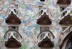 Façade de ² de Batllà de maison, Barcelone. photos libres de droits