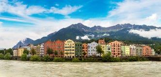 Façade de bâtiment à Innsbruck Photographie stock libre de droits